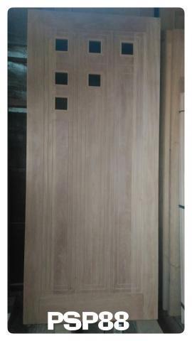 Tukang Kusen Kayu Blog Psp88 Pintu Solid Rata Kombinasi Kaca Kecil Dan Nat